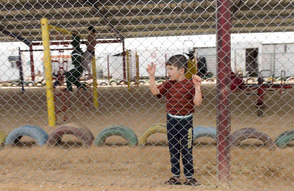 Dreng i Zaatari flygtningelejr i Jordan. Foto: FN/Mark Garten