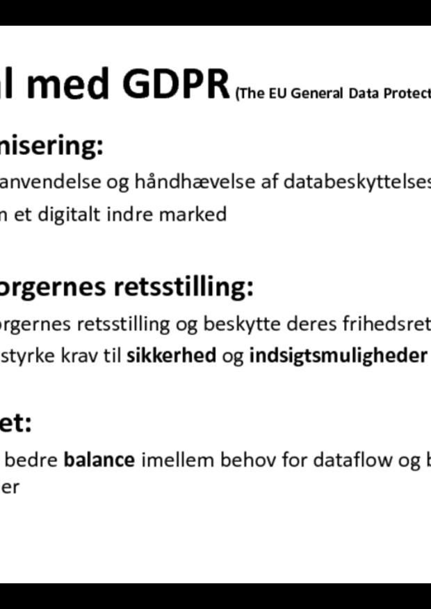 Pixibog - overblik over databeskyttelsesloven