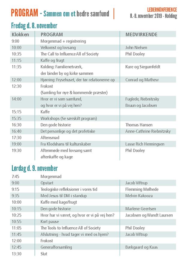 Program lederkonferencen 2019